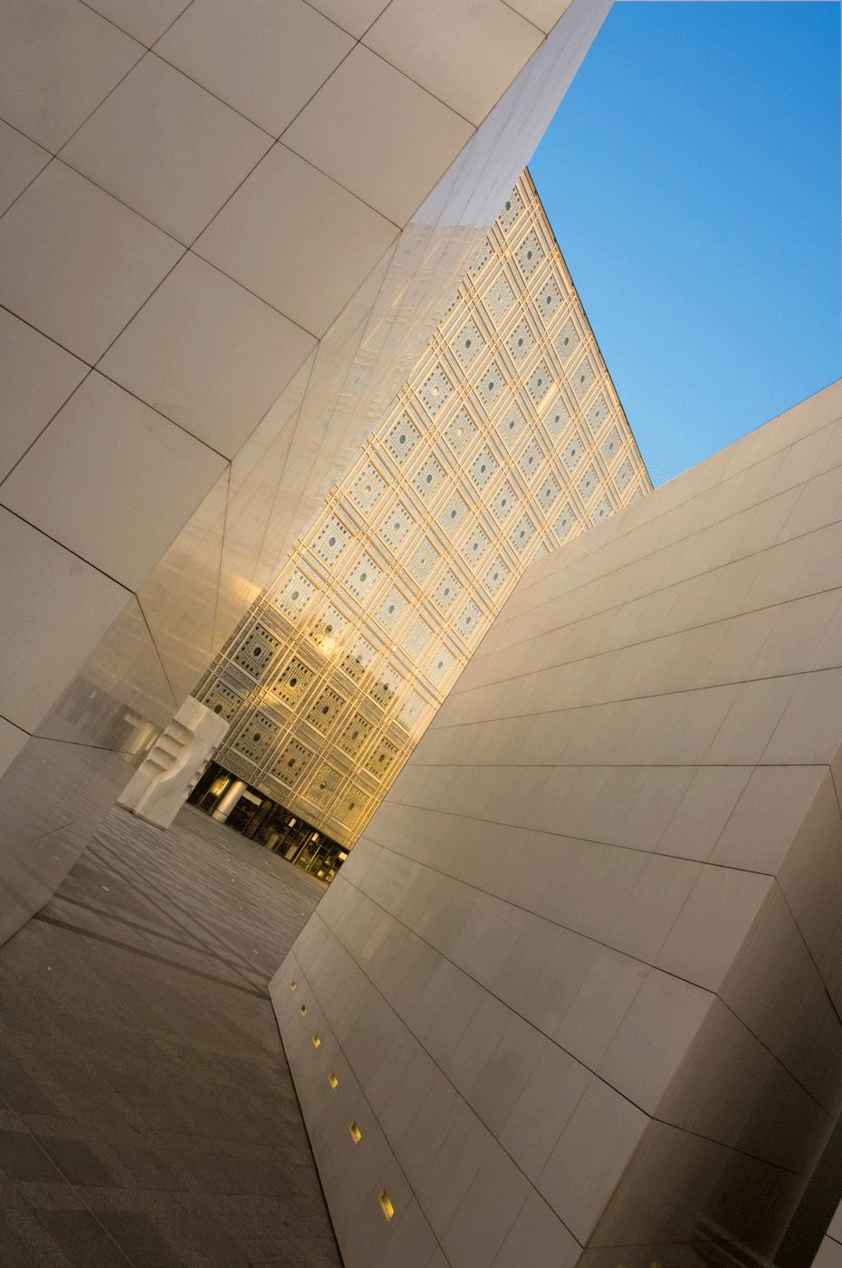 Institut du monde arabe photo architecture fred blanpain for Architecture arabe