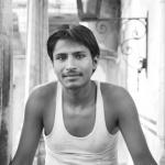 Portrait noir et blanc Inde